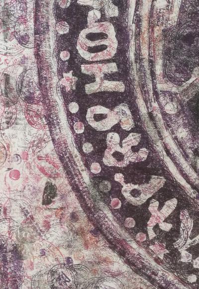 Extrait du tableau «yä-Zäwditu Mahtäm» [Sceau de l'impératrice Zäwditu] par Hailu Kifle (2016)