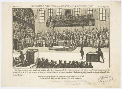 Assemblée nationale (1790), gravure: Paris, AN, AE/II/3878