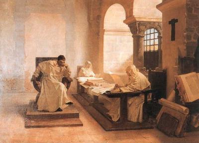 Les hommes du Saint-Office, huile sur toile de Jean-Paul Laurens, vers 1889 © musée d'Art et d'Archéologie, Moulins, France