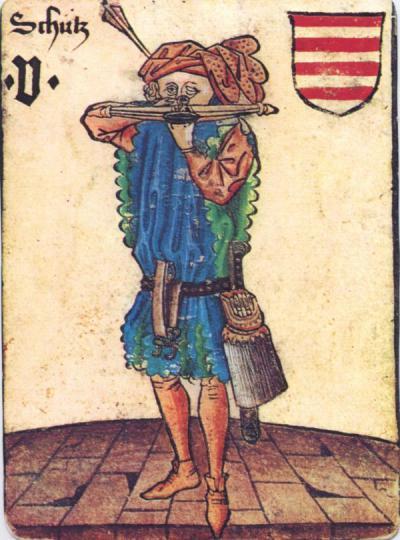 Archer ou chasseur à l'arbalette, personnage du Hofämsterspiel