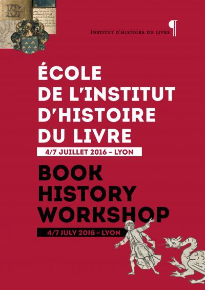 École d'été de l'Institut d'histoire du livre