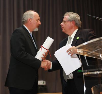 Benoît Jordan (prom. 1989) reçoit le grand prix d'honneur des Amis du Vieux-Strasbourg