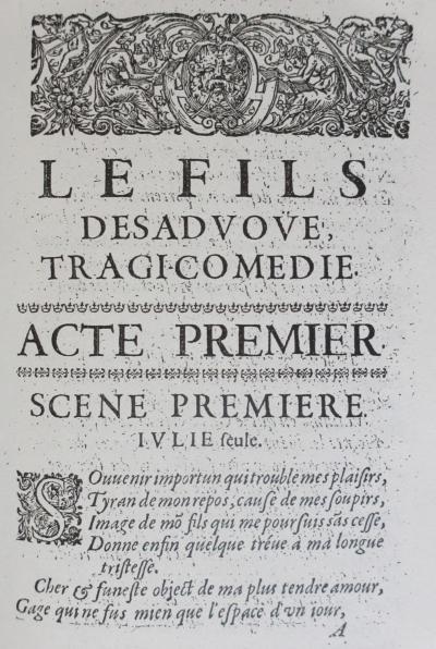 G. Guérin de Bouscal, Le fils desavoué ou le jugement de Théodoric, roi d'Italie, tragicomédie, Paris, 1642
