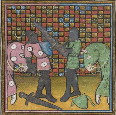 Cologny, Fondation Martin Bodmer, Cod. Bodmer 96-2, f. 1r – Guiron le courtois