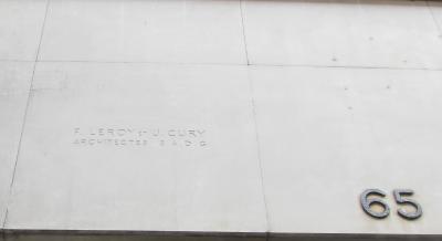 Signature des architectes Leroy et Cury