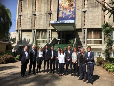 Visite avec la délégation officielle du Musée national d'Éthiopie