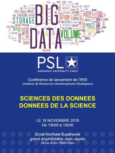 Science des données, données de la science