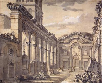 Palais de Dioclétien à Split. Charles-Louis Clérisseau, 1757