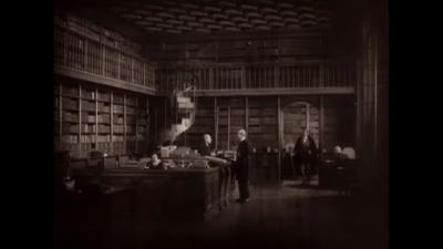 La bibliothèque de l'Arsenal dans Le Magicien (Rex Ingram), 1926