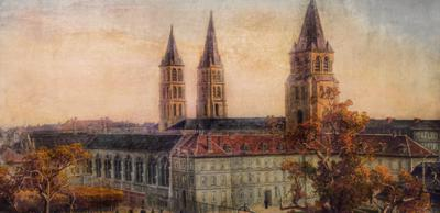 Louis Dumoulin (1860-1924), ancienne abbaye, Saint-Germain-des-Prés