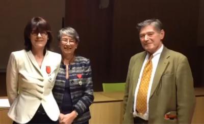 Christine Nougaret reçoit les insignes de chevalier de la Légion d'honneur