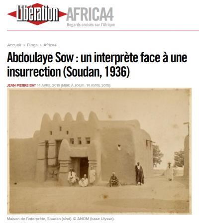 Le premier papier des étudiants du master d'Histoire transnationale publié en 2019 dans Libération