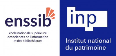 Logos de l'Enssib et de l'INP