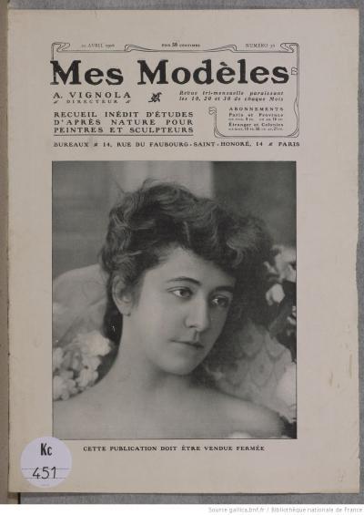 Couverture de la revue Mes Modèles (numéro 36, 20 avril 1906)