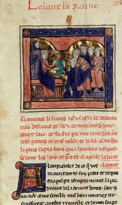 Enluminure du manuscrit Livre la Roine (XIIIᵉ siècle)