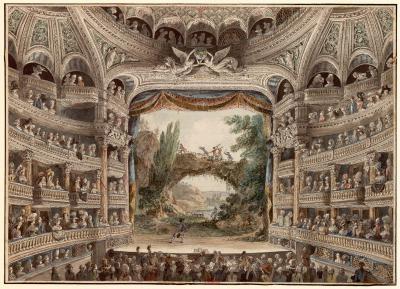 Intérieur de la Comédie-Française en 1790, par Antoine Meunier (1765–1808)