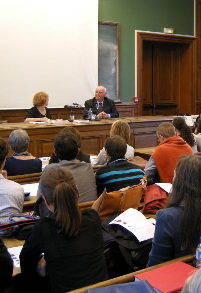 """Conférence de Michel Pastoureau avec Danielle Bohler """"Symbole et héros dans l'histoire médiévale par Michel Pastoureau"""""""