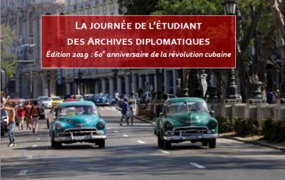 Édition 2019 de «La journée de l'étudiant des Archives diplomatiques»