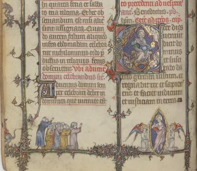 Bréviaire à l'usage dominicain (Paris, BnF, NAL 3255, f. 97v)