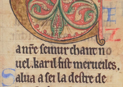 Psautier Latin-Français: Paris, BnF, NAL 1670, f. 107r