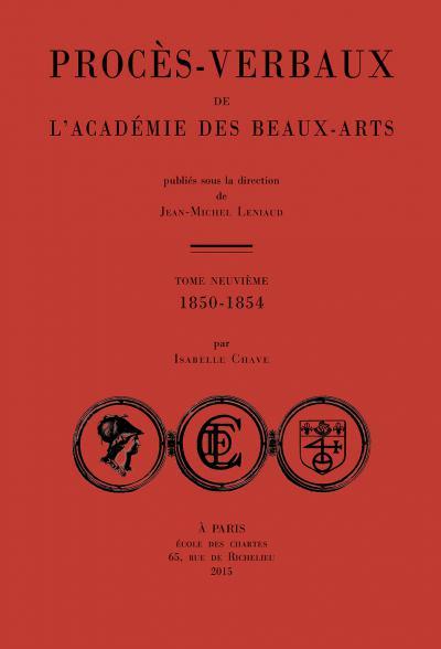 Couverture Procès-verbaux de l'Académie des beaux-arts (1850-1854)