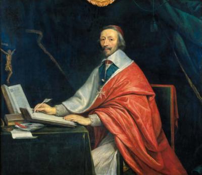Philippe de Champaigne, Le cardinal de Richelieu écrivant, huile sur toile, XVIIᵉ siècle, Chancellerie des Universités de Paris
