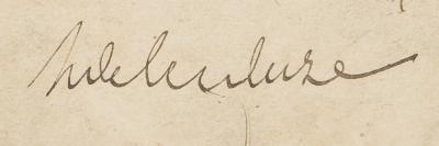 Signature d'Henri Delescluze (Archives nationales, 494AP/1, dossier 4, carnet 2, page de titre)