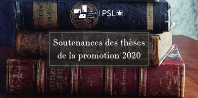 Soutenances des thèses d'École de la promotion 2020