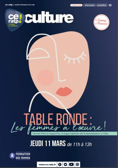 Table ronde «Les femmes à l'œuvre»