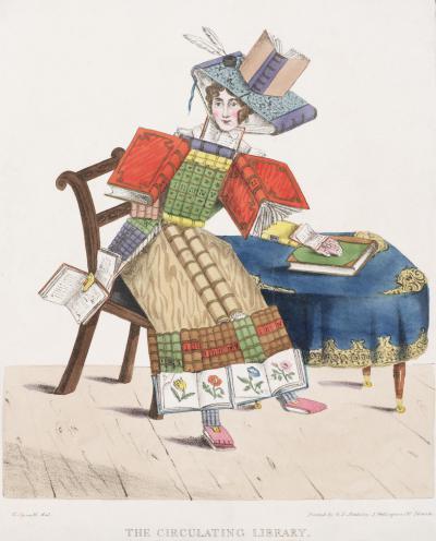 The Circulating Library, réalisée par Georges Spratt et imprimée à Londres chez G. E. Madeley