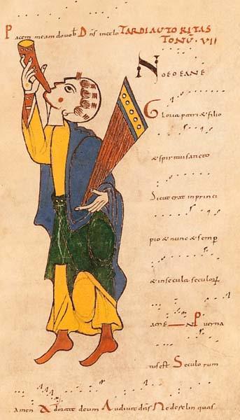 Tropaire de Saint-Martial de Limoges, XIᵉ siècle, neumes aquitains, BnF, Manuscrits latins