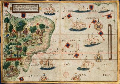 La carte du Brésil de l'Atlas Miller, 1519