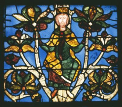 Vitrail de l'arbre de Jessé, Basilique Saint-Denis, monument-nationaux.fr