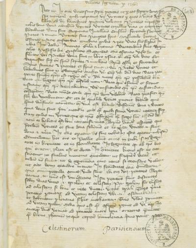 Manuscrit des Célestins de Paris, BnF