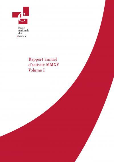 Couverture du rapport annuel 2015