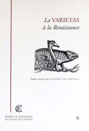 Couverture de «La varietas à la Renaissance»