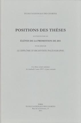 Positions des thèses 2011