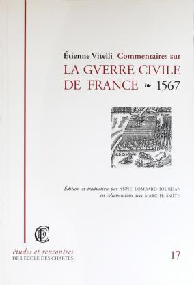 """Couverture de """"Commentaires sur la guerre civile de France"""""""