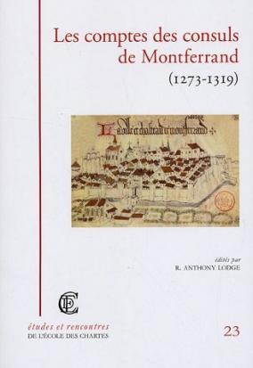"""Couverture de """"Les comptes des consuls de Montferrand (1273-1319)"""""""
