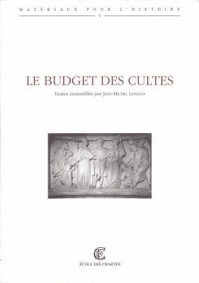 Couverture de «Le budget des cultes»