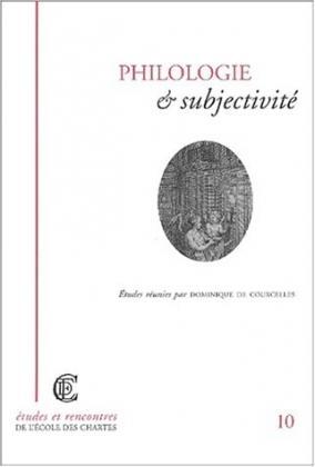 Couverture de «Philologie et subjectivité»