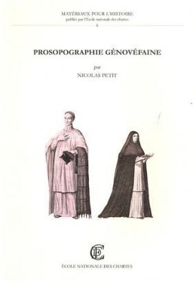 Couverture de «Prosopographie génovéfaine»