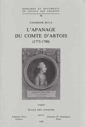 L'Apanage du comte d'Artois (1773-1790)