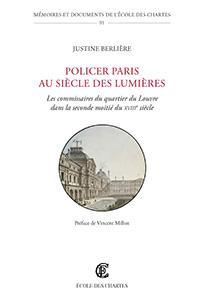 Couverture de «Policer Paris au Siècle des Lumières»