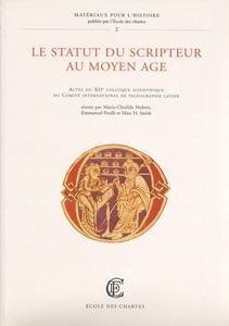Le statut du scripteur au Moyen Âge