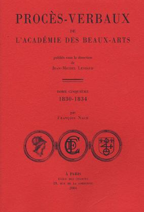 Procès-verbaux de l'Académie des beaux-arts 1850-1854
