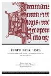 Couverture de l'ouvrage Écritures grises