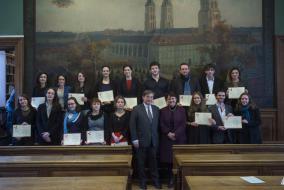 Cérémonie de remise des diplômes 2016 d'archiviste paléographe