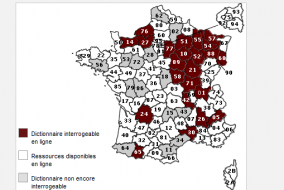 Capture d'écran du site web du Dictionnaire topographique de la France