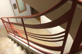 65, Rue de Richelieu, interior bannister by Raymond Subes